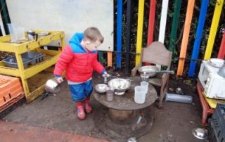 Outdoor Play And Baking Fun