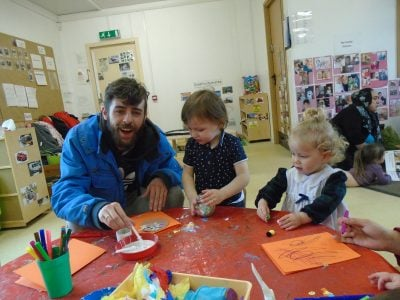 Parents come to nursery
